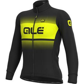 Alé Cycling Solid Blend Winter Koszulka rowerowa z długim rękawem Mężczyźni, black/fluo yellow